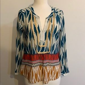 Maeve Tops - Anthropologie - Maeve brand patterned blouse